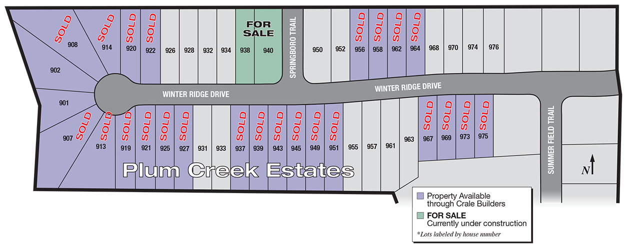 Plum Creek Estates Plot Plan